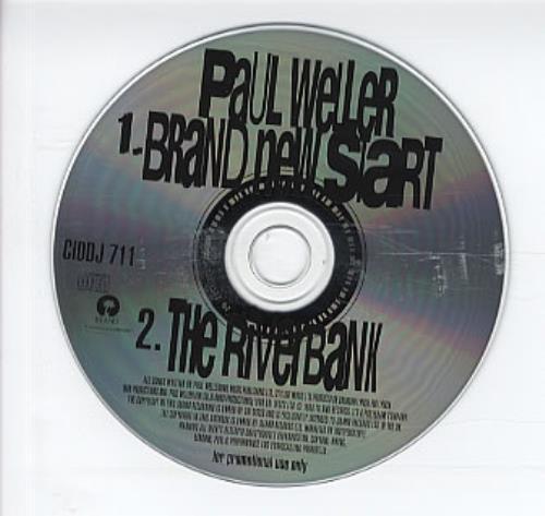 """Paul Weller Brand New Start - Promo CD single (CD5 / 5"""") UK WELC5BR123279"""