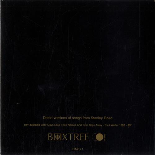 "Paul Weller Demo Versions Of Songs From Stanley Road CD single (CD5 / 5"") UK WELC5DE55807"