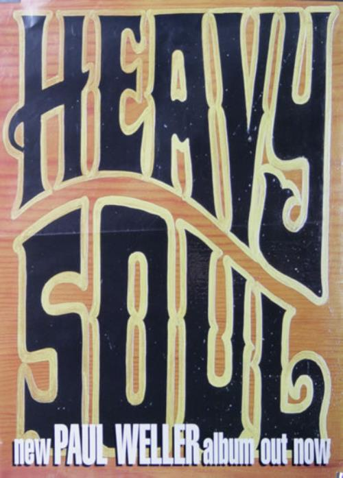 Paul Weller Heavy Soul poster UK WELPOHE513940