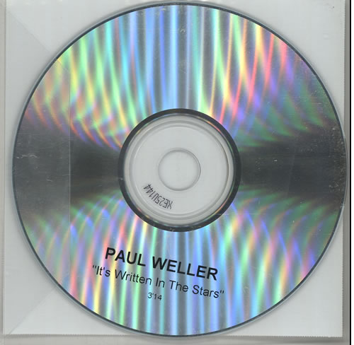Paul Weller It's Written In The Stars CD-R acetate UK WELCRIT224147