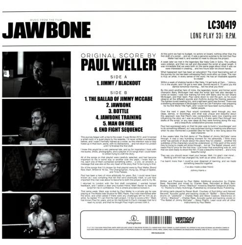 Paul Weller Music From The Film Jawbone - Sealed vinyl LP album (LP record) UK WELLPMU761453