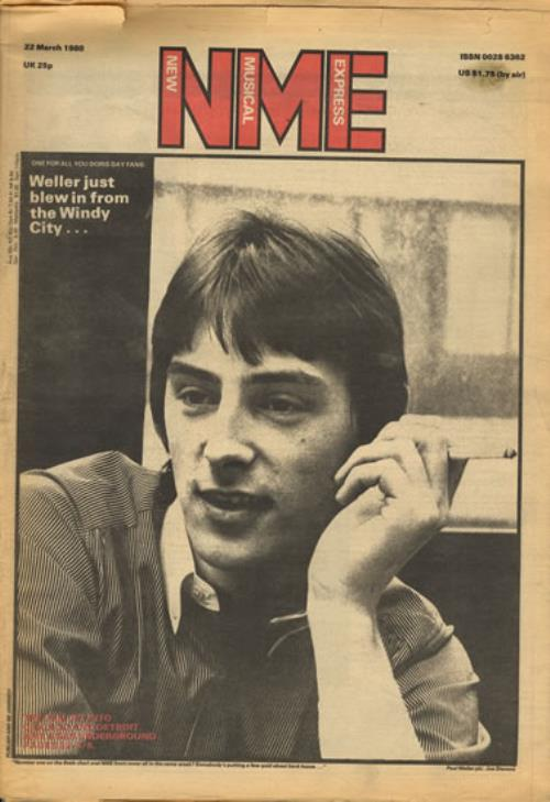 Paul Weller NME - 3 November 1979 & 22 March 1980 magazine UK WELMANM552939