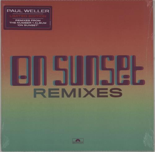 "Paul Weller On Sunset Remixes - Sealed 12"" vinyl single (12 inch record / Maxi-single) UK WEL12ON757511"