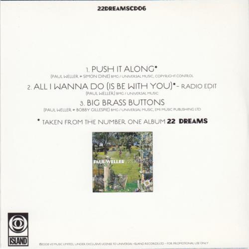 Paul Weller Push It Along CD-R acetate UK WELCRPU645430