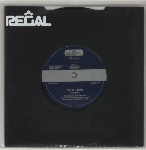 "Paul Weller This Old Town 7"" vinyl single (7 inch record) UK WEL07TH408176"