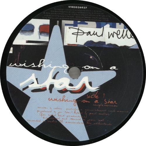 "Paul Weller Wishing On A Star - Mispress - Numbered Sleeve 7"" vinyl single (7 inch record) UK WEL07WI705970"