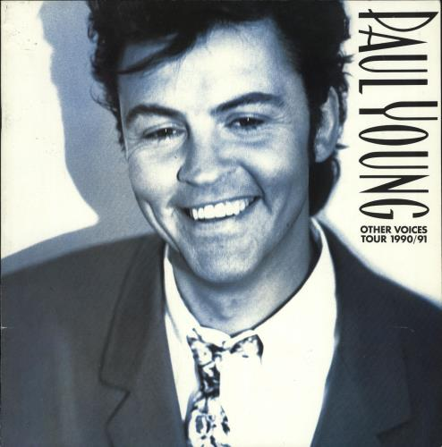 Paul Young Other Voices Tour 1990/91 - Autographed + Pass & Setlist tour programme UK PYOTROT727895