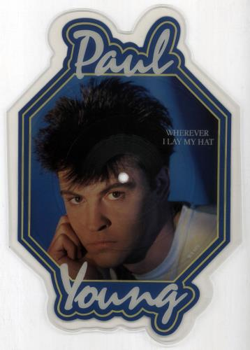 Paul Young Wherever I Lay My Hat shaped picture disc (picture disc vinyl record) UK PYOSHWH42701
