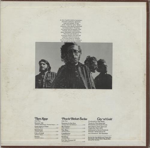 Pearls Before Swine City Of Gold - Promo vinyl LP album (LP record) US PBSLPCI754434