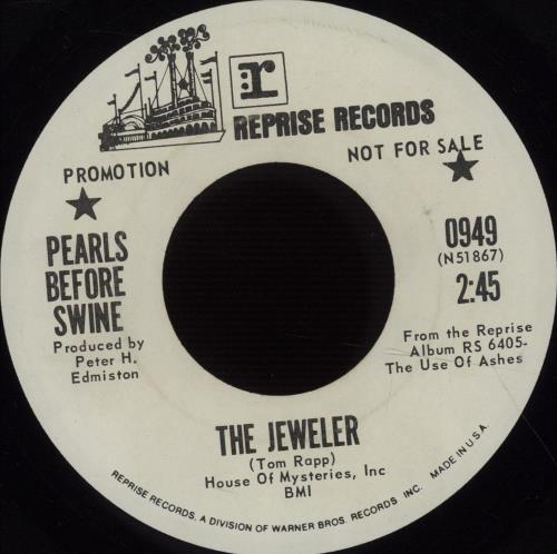 """Pearls Before Swine The Jeweler 7"""" vinyl single (7 inch record) US PBS07TH74093"""