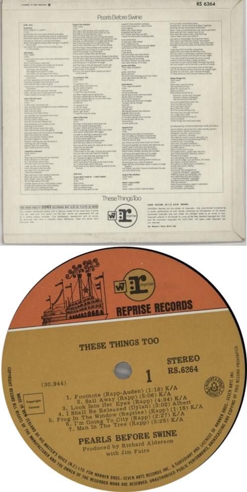 Pearls Before Swine These Things Too vinyl LP album (LP record) New Zealand PBSLPTH616571
