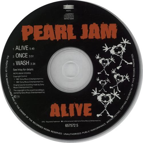 pearl jam cd  Pearl Jam Alive UK CD single (CD5 / 5
