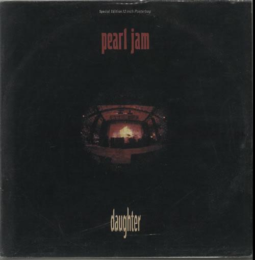 "Pearl Jam Daughter - Poster Sleeve 12"" vinyl single (12 inch record / Maxi-single) UK PJA12DA24534"