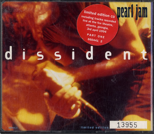 Pearl Jam Dissident - CDs 1 & 2 2-CD single set (Double CD single) UK PJA2SDI88259