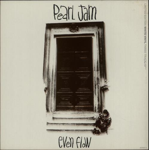 "Pearl Jam Even Flow - White Vinyl - EX 12"" vinyl single (12 inch record / Maxi-single) UK PJA12EV655625"