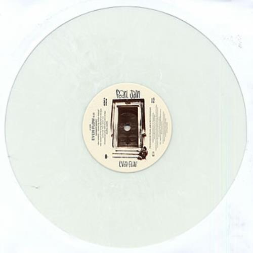 "Pearl Jam Even Flow - White Vinyl 12"" vinyl single (12 inch record / Maxi-single) UK PJA12EV04846"