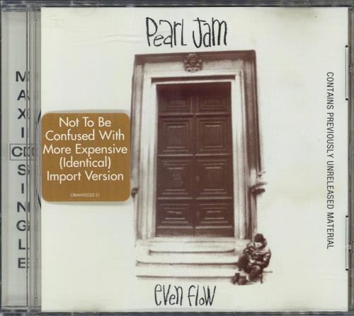 "Pearl Jam Even Flow CD single (CD5 / 5"") US PJAC5EV213334"