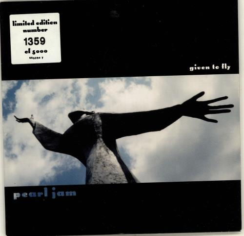 """Pearl Jam Given To Fly - Numbered Sleeve 7"""" vinyl single (7 inch record) UK PJA07GI107280"""