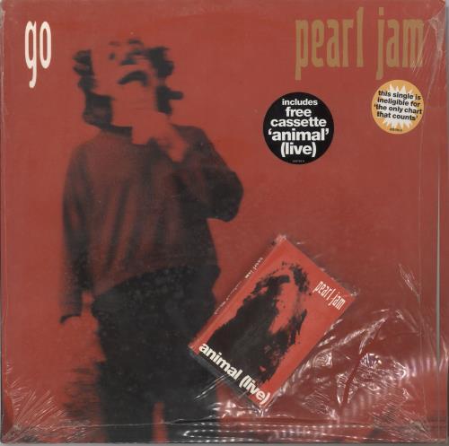 "Pearl Jam Go + Cassette - Sealed 12"" vinyl single (12 inch record / Maxi-single) UK PJA12GO23191"