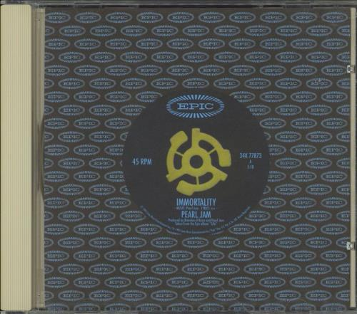 "Pearl Jam Immortality CD single (CD5 / 5"") US PJAC5IM49005"