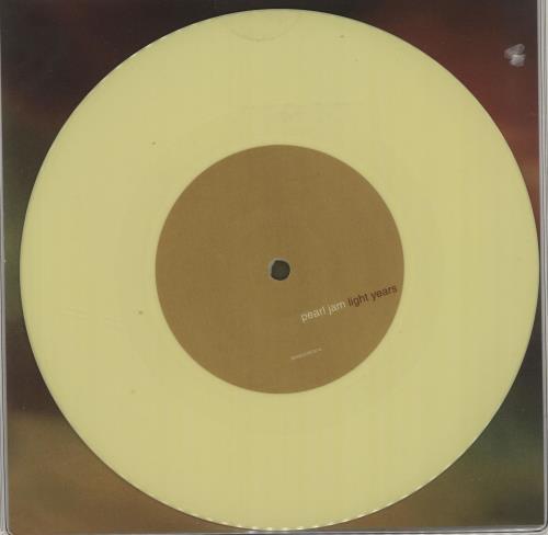 "Pearl Jam Light Years - Yellow Vinyl + Sealed 7"" vinyl single (7 inch record) UK PJA07LI685601"