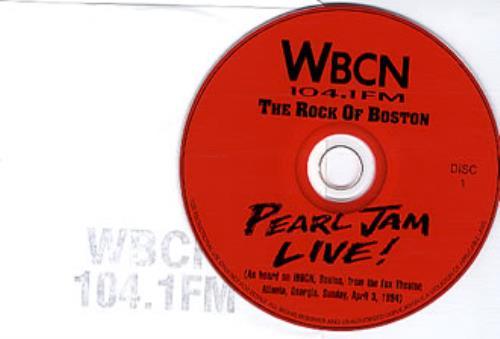 Pearl Jam Live! '94 -- WBCN edition 2 CD album set (Double CD) US PJA2CLI347389