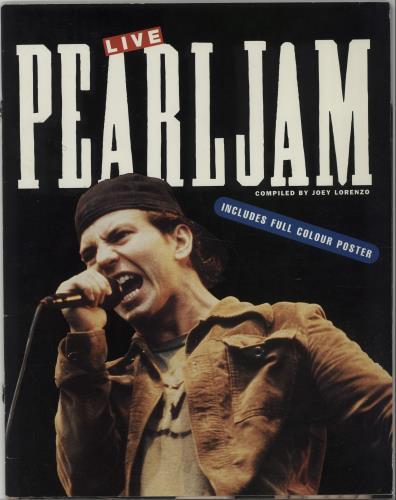 Pearl Jam Live + poster UK book (124313) OP47701