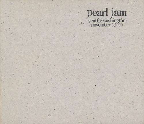 Pearl Jam Live Across America - Seattle Washington, November 5th 2000 2 CD album set (Double CD) US PJA2CLI768178