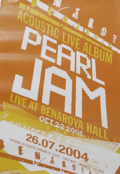 Pearl Jam Live At Benaroya Hall UK Promo poster (548126)