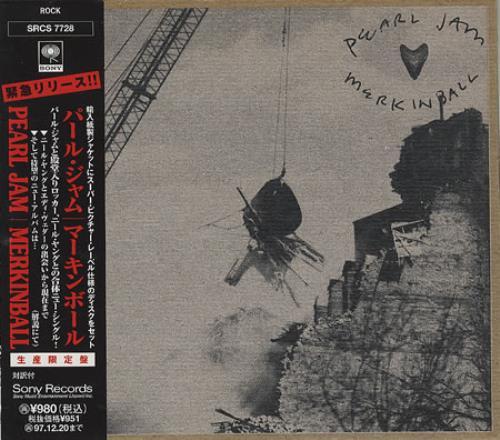 "Pearl Jam Merkinball CD single (CD5 / 5"") Japanese PJAC5ME365336"