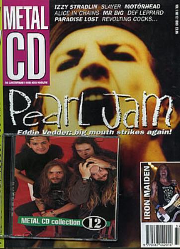 Pearl Jam Metal CD - Volume One Issue Twelve 1993 magazine UK PJAMAME281570