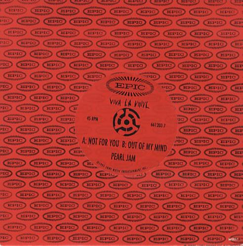 """Pearl Jam Not For You 7"""" vinyl single (7 inch record) UK PJA07NO45226"""