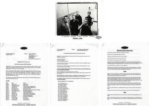 Pearl Jam Riot Act US Promo media press pack
