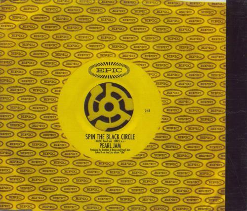 "Pearl Jam Spin The Black Circle - yellow disc CD single (CD5 / 5"") UK PJAC5SP271542"