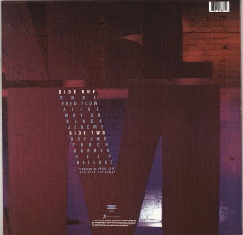 Pearl Jam Ten - 180gram vinyl LP album (LP record) UK PJALPTE767876