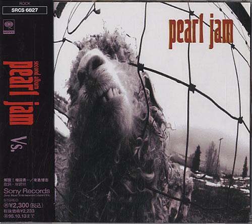 pearl jam cd  Pearl Jam Vs Japanese CD album (CDLP) (590890)