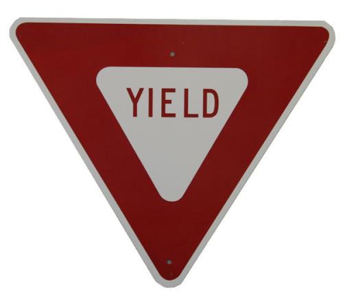 Pearl Jam Yield Road Sign - Stickered Back memorabilia US PJAMMYI489289
