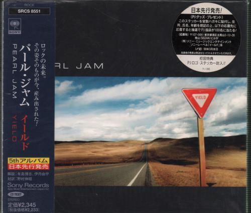 Pearl Jam Yield CD album (CDLP) Japanese PJACDYI99028