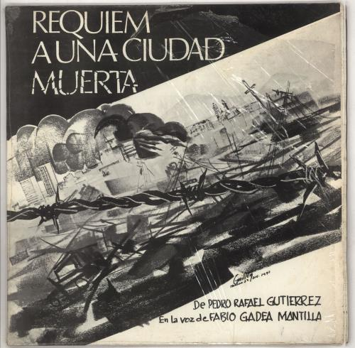 Pedro Rafael Gutierrez Requiem A Una Cuidad Muerta vinyl LP album (LP record) Nicaraguan 0GDLPRE735781