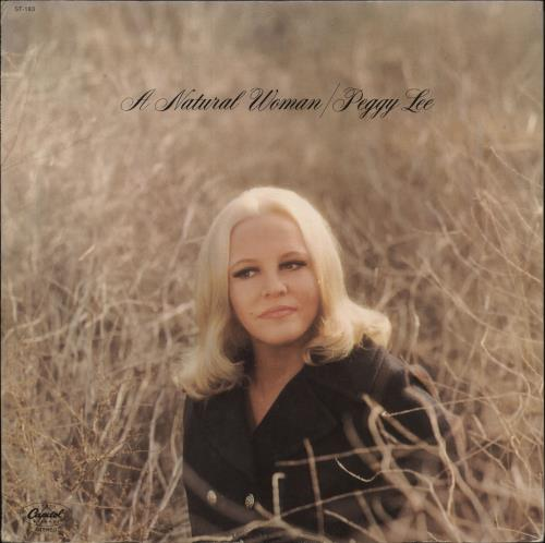 Peggy Lee A Natural Woman vinyl LP album (LP record) US PEGLPAN711377