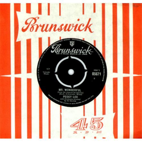 "Peggy Lee Mr. Wonderful - 2nd 7"" vinyl single (7 inch record) UK PEG07MR414335"