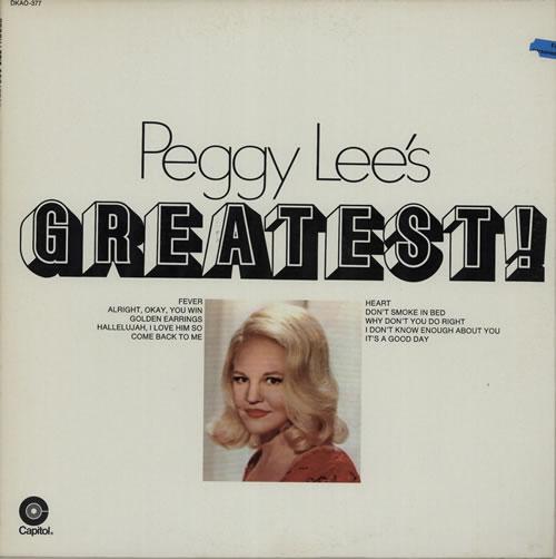 Peggy Lee Peggy Lee's Greatest! vinyl LP album (LP record) US PEGLPPE627987