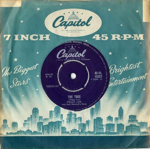 "Peggy Lee The Tree 7"" vinyl single (7 inch record) UK PEG07TH613915"