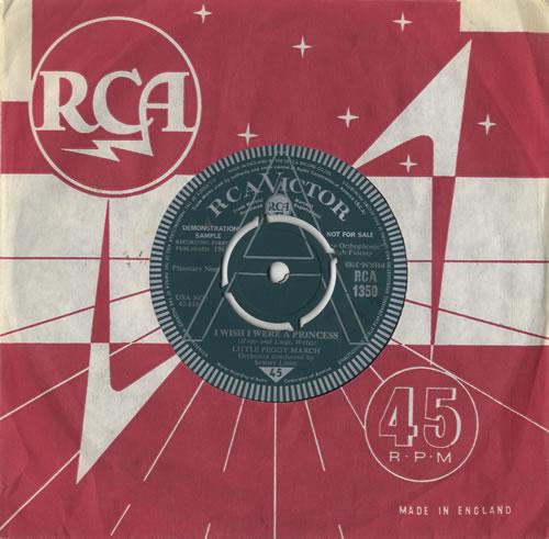 "Peggy March I Wish I Were A Princess 7"" vinyl single (7 inch record) UK PMA07IW478619"