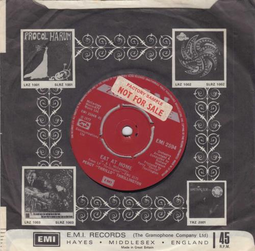 "Percy Thrillington Uncle Albert / Admiral Halsey - Factory Sample 7"" vinyl single (7 inch record) UK PCY07UN505247"