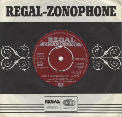 "Percy Thrillington Uncle Albert/Admiral Halsey 7"" vinyl single (7 inch record) UK PCY07UN89740"