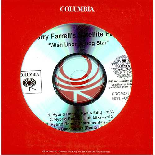 Perry Farrell's Satellite Party Wish Upon A Dog Star - Remixes CD-R acetate US SPVCRWI409530