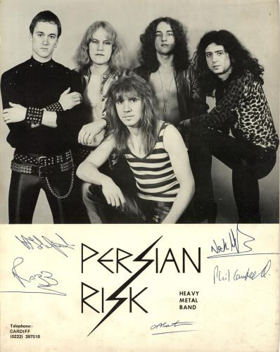 """Persian Risk Calling For You 7"""" + Ridin' High 7"""" + Fully Signed Contract + Signed Photos memorabilia UK PSRMMCA696910"""