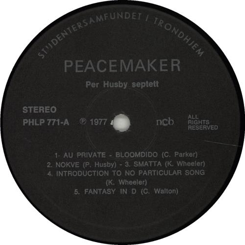 Per Husby Peacemaker vinyl LP album (LP record) Norwegian QERLPPE675240
