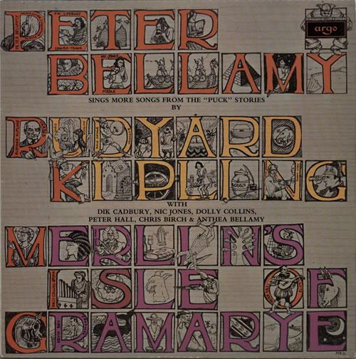 Peter Bellamy Merlin's Isle Of Gramarye vinyl LP album (LP record) UK 3PBLPME630107